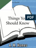 Things You Should Know - A M. Homes.epub
