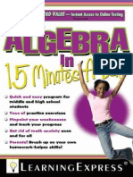 Algebra in 15 Minutes a Day.PDF