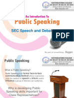 An Introduction to Public Speaking Training Session