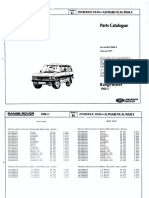 Range Rover Classic Parts manual 1986 - 1991