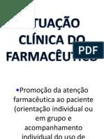 Atuação clínica do Farmacêutico