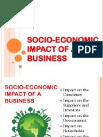 Socio-Economic Impact of a Business