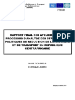 RAPPORT FINAL SUR LE PROCESSUS D'ANALYSE DES STRATEGIES