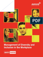 Management of Diversity and Inclusion in the Workplace
