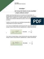 Investigacion de Matematicas Financieras