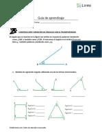 guía de ángulos 6 básico