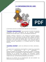 CAUSAS DE LA CONTAMINACIÒN DEL AIRE