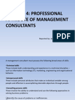 Professional Attribute of a Management Consultants