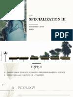 Specialization III
