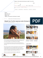 Weight Loss Try This Japanese Water Therapy to Lose Weight Times of India