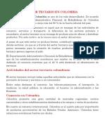 Sector terciario en Colombia