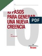 10 PASOS Para Generar Una Nueva Creencia- Jhon Maxwell