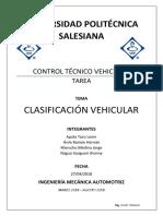 Clasificación Vehicular