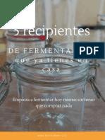 5 recipientes de fermentacion