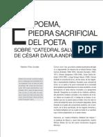 El Poema Piedra Sacrificial Del Poeta