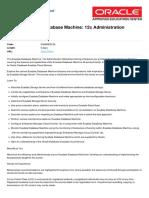 Exadata Database Machine 12c Administration Workshop Ed 2
