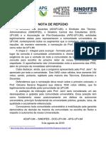 Nota de repúdio UFVJM