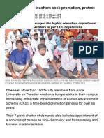 Anna University Teachers Seek Promotion, Protest
