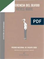 Reyes Mate - La Herencia Del Olvido.pdf