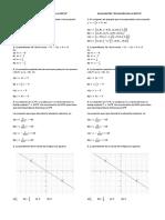 Evaluación Ecuación de La Recta. Grado 10º