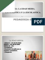 Tema. Edad Media. La Patristica y La Escolastica