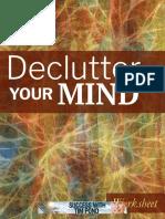 Declutter Your Mind Worksheet