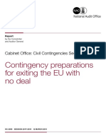 Contingency Preparations for Exiting the EU With No Deal