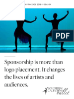2018-19 Southern California Ballet Corporate Sponsorship Packet