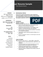 Lawyer Resume Sample 2019 Original