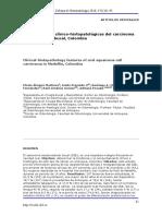 Características clínico-histopatológicas del carcinoma escamocelular bucal, Colombia