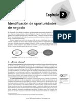 LEC01 Identificación de Oportunidades Sapag,N. 2014. Preparación y Evaluación de Proyectos