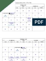 Calendario Hebreo Pedagogico 2019