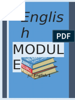 English MODULE for English 1 General Eng