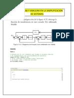 Ejercicios de Matlab y Simulink en La Simplificacion de Sistemas