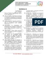 Material 1 - Questões 01 a 25