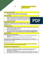 Protocolo de Uso. Ganciclovir