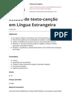 Estudo de Texto Cancao Em Lingua Estrangeirapdf