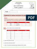 Guía complementaria 1° Básico 2019 Tablas y graficos