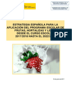 Estrategia Española Del Programa Escolar de Fr