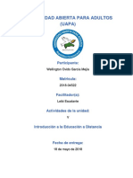 Tarea v, Introducción a La Educación a Distancia, Wellington Ovido (1)