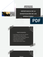 Importancia de la investigación de las operaciones en las empresas