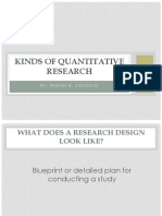 2nd Kinds of Quantitative Research