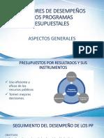 Indicadores de Desempeños de Los Pp Aspectos Generales y Definiciones