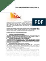 A Crise Econômica e as Empresas Brasileiras