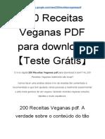 200 Receitas Veganas PDF para download 【Teste Grátis!】