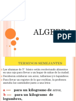 algebra 5° año 2012