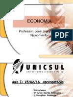 Introdução à Economia Para Finanças