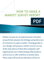 how to make a market survey report