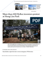 < 100 Hyflux Investors Protest at HLPark - ST