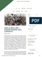 Atila en Las Fronteras Del Ensayo - Literal Magazine